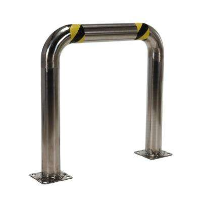 36 in. x 36 in. x 4 in. Stainless Steel High Profile Rack Guard