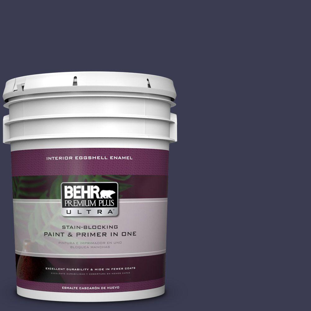 5 gal. #HDC-WR16-03 Blueberry Tart Eggshell Enamel Interior Paint