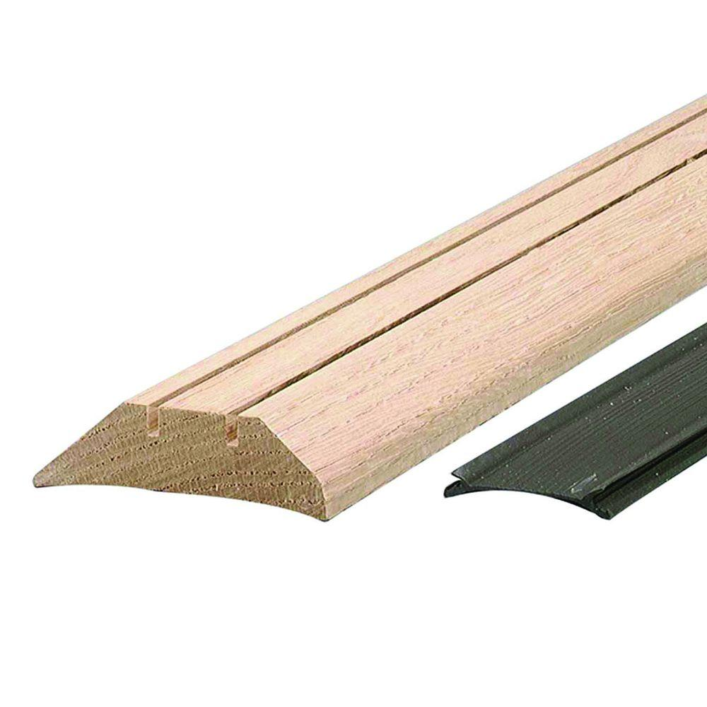 M-D Building Products Low 3-1/2 in. x 69 in. Unfinished Hardwood Threshold with Flexible Vinyl Seal