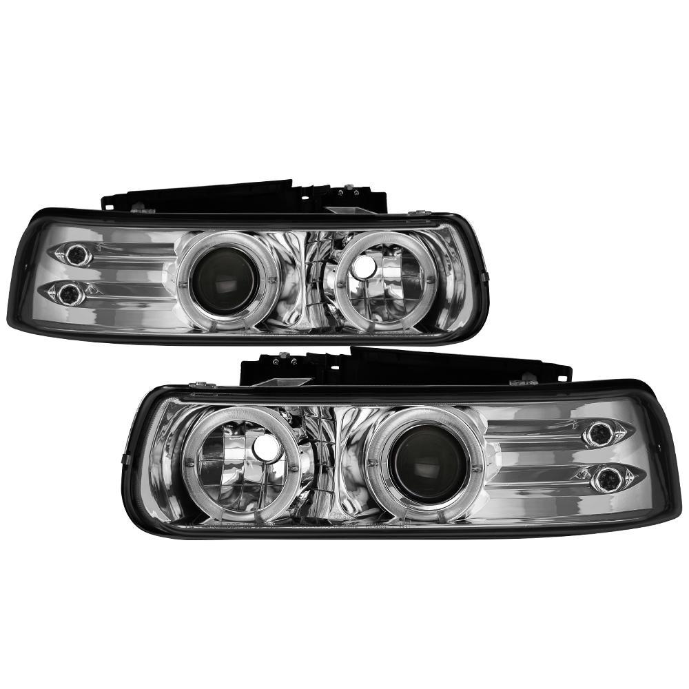 Spyder Auto Halo LED Projector Headlights For 1988-1999 GM Trucks #5009289