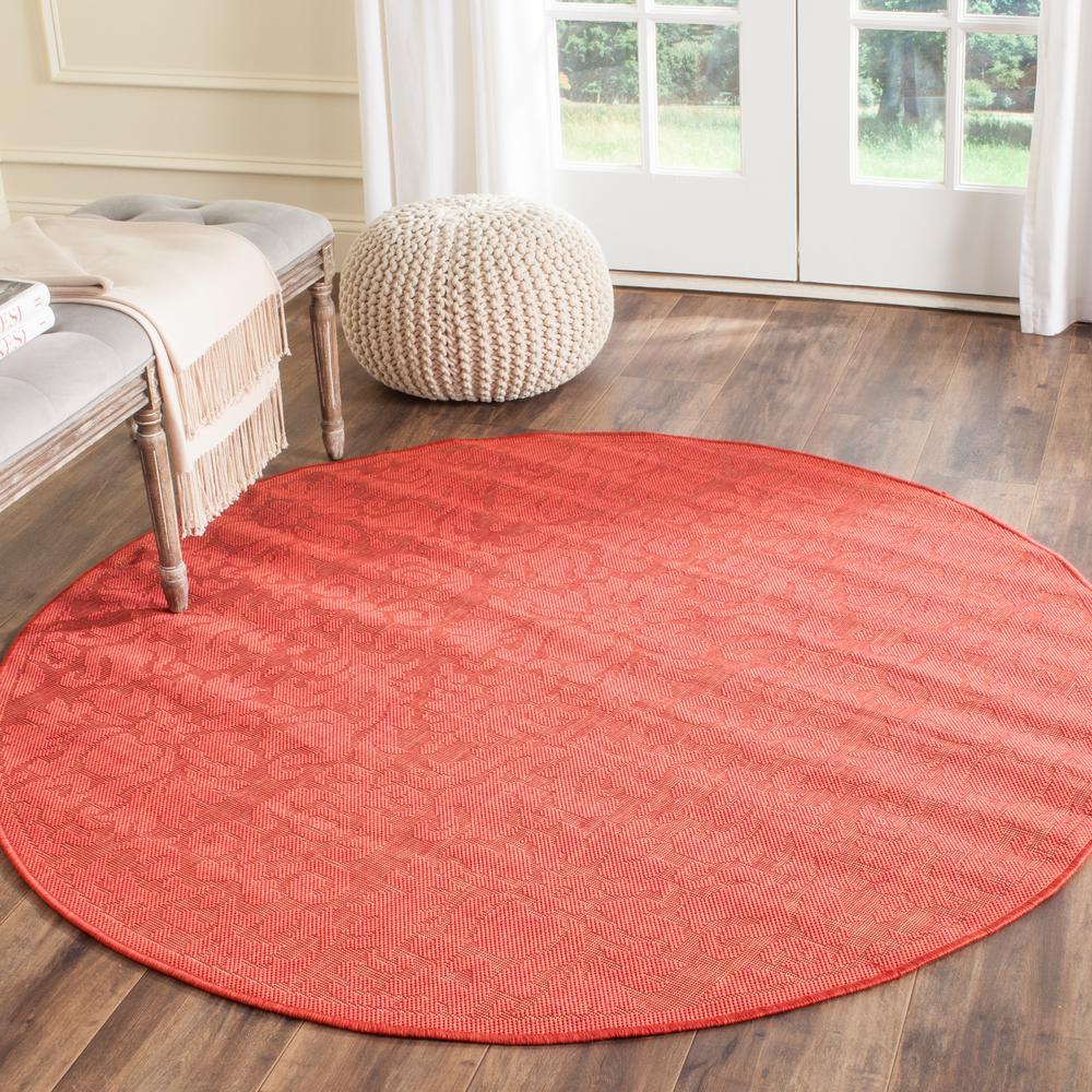 Outdoor Rug Rental: Safavieh Courtyard Red 5 Ft. 3 In. X 5 Ft. 3 In. Indoor