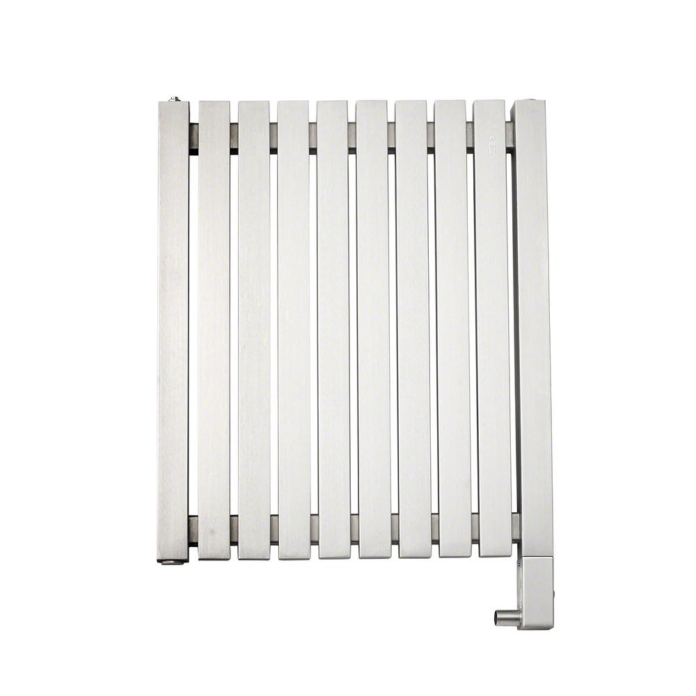 10-Bar Wall Mounted Electric Towel Warmer with Digital Timer in Stainless