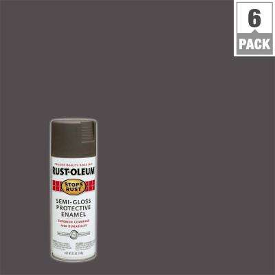 12 oz. Protective Enamel Semi-Gloss Anodized Bronze Spray Paint (6-Pack)