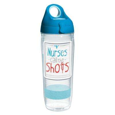Nurses Call The Shots 24 oz. Double Walled Insulated Water Bottle