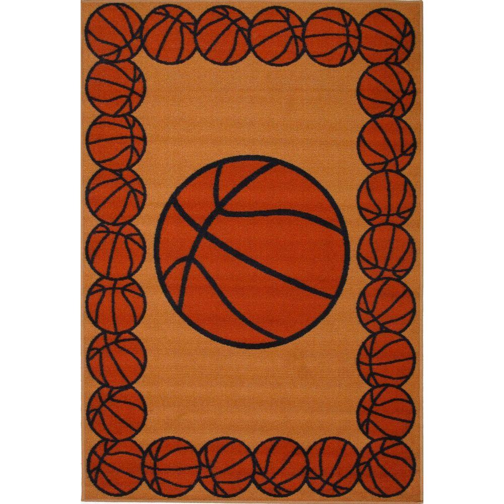 Basketball Rug Target: LA Rug Fun Time Basketball Time Multi Colored 2 Ft. X 2 Ft