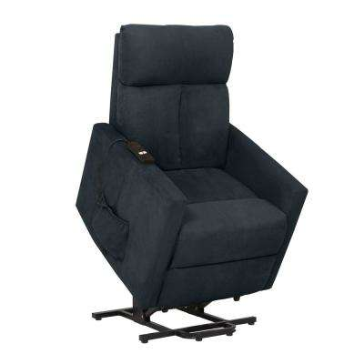 ProLounger Medium Blue Microfiber Power Lift Chair Recliner