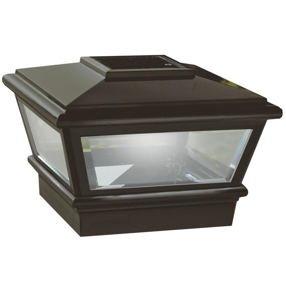 5 in. x 5 in. Bronze Composite Pyramid Solar Post Cap