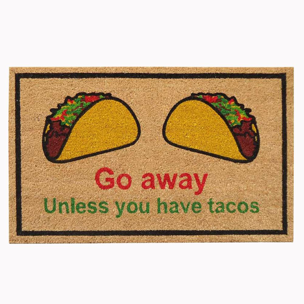 Nedia Home 18 in. x 30 in. Tacos Welcome Super Scraper Door Mat