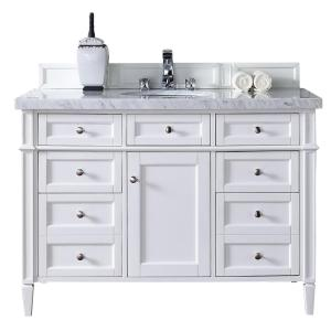James Martin Signature Vanities Brittany 48 inch W Single Vanity in Cottage White with... by James Martin Signature Vanities