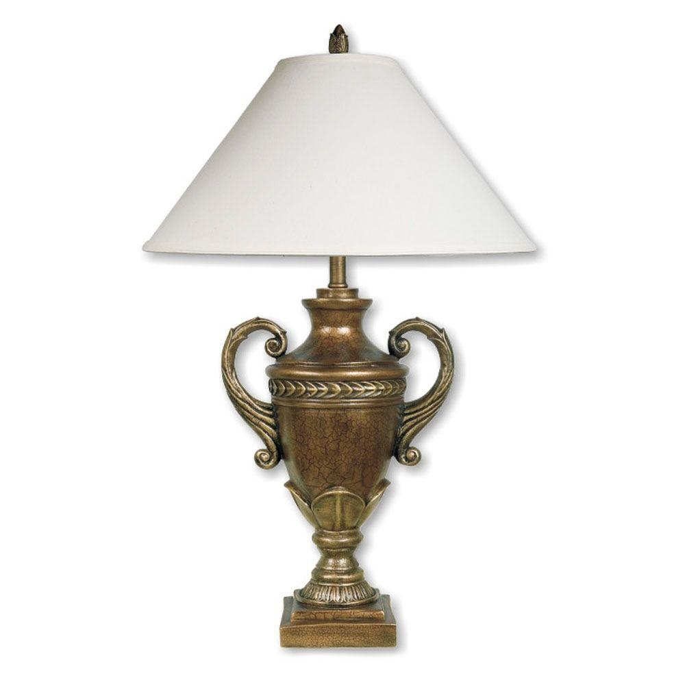 Ore International 32 In Pineapple Antique Gold Table Lamp: ORE International 32 In. Trophy Cup Bronze Table Lamp-8169