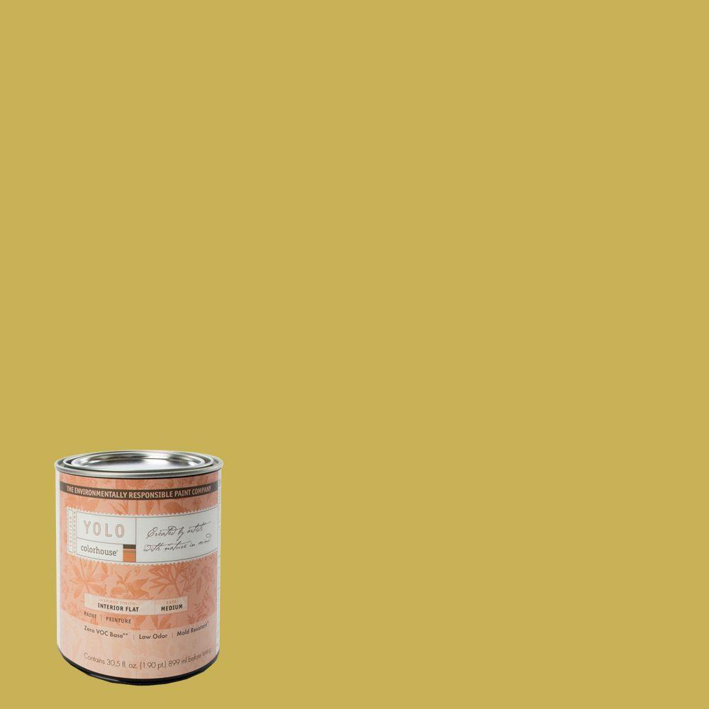 YOLO Colorhouse 1-Qt. Beeswax .05 Flat Interior Paint-DISCONTINUED
