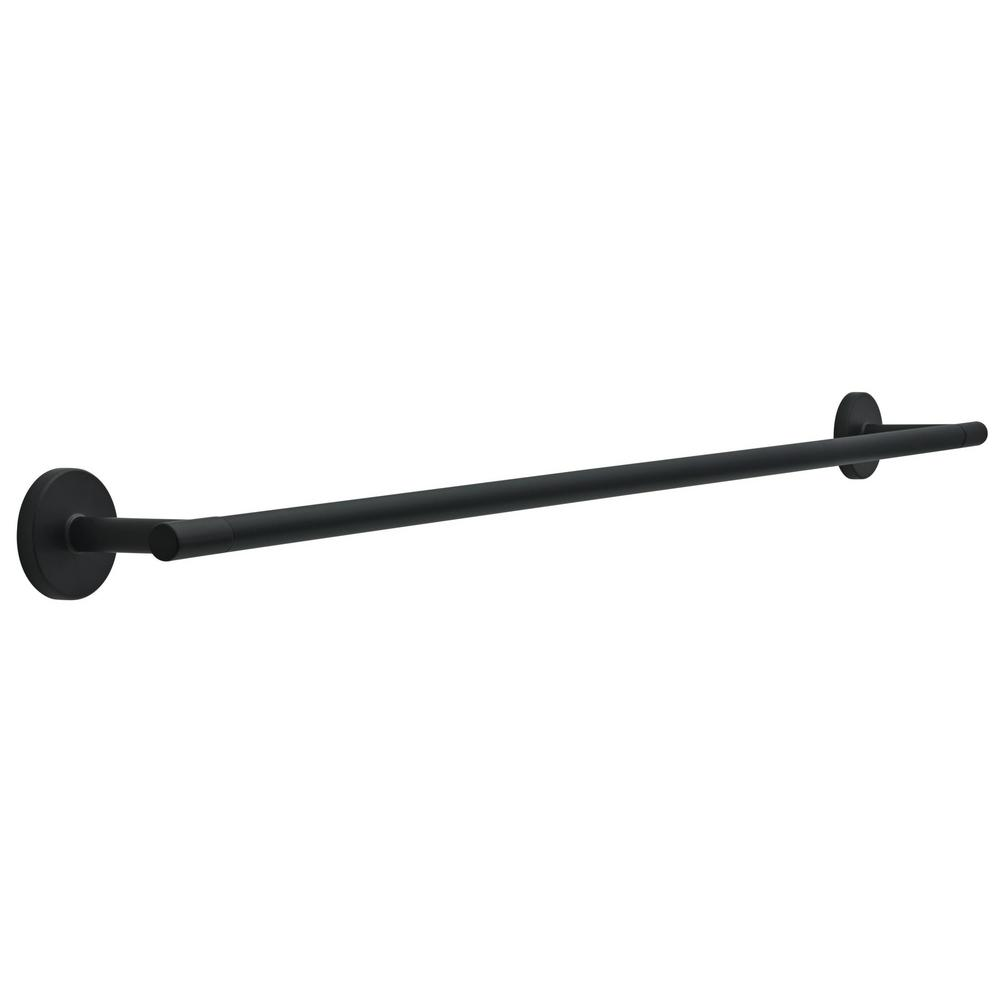Delta Delta Lyndall 30 in. Towel Bar in Matte Black
