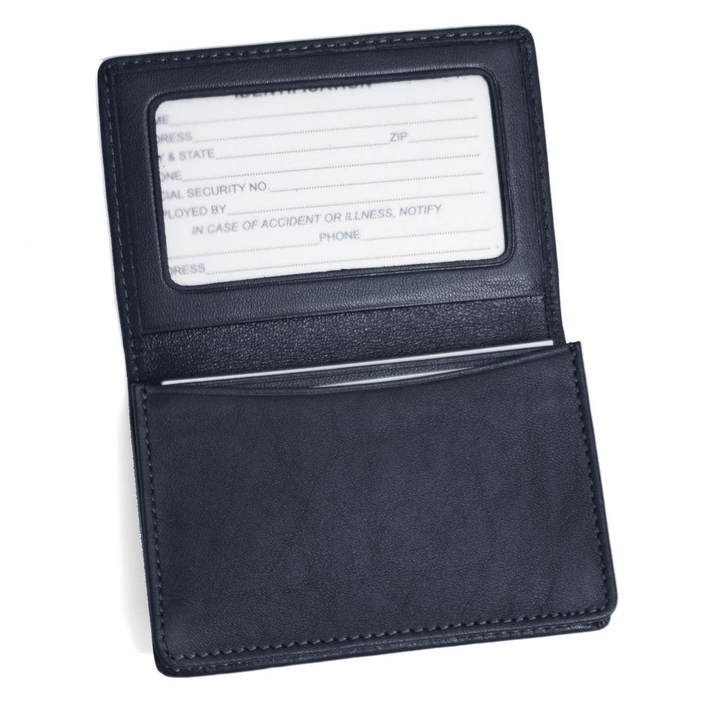 Royce Genuine Leather Business Card Case Wallet, Blue-409-BLUE-5 ...