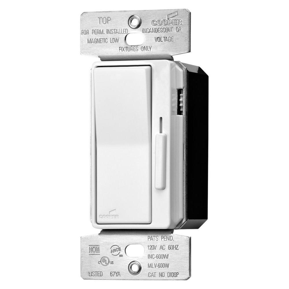 600-Watt Decorator 3-Way Slide CFL-LED Dimmer with Pre-Set