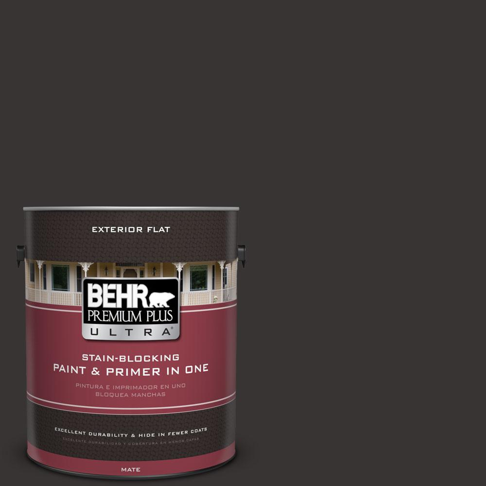 BEHR Premium Plus Ultra 1-gal. #ECC-27-3 Evening Canyon Flat Exterior Paint