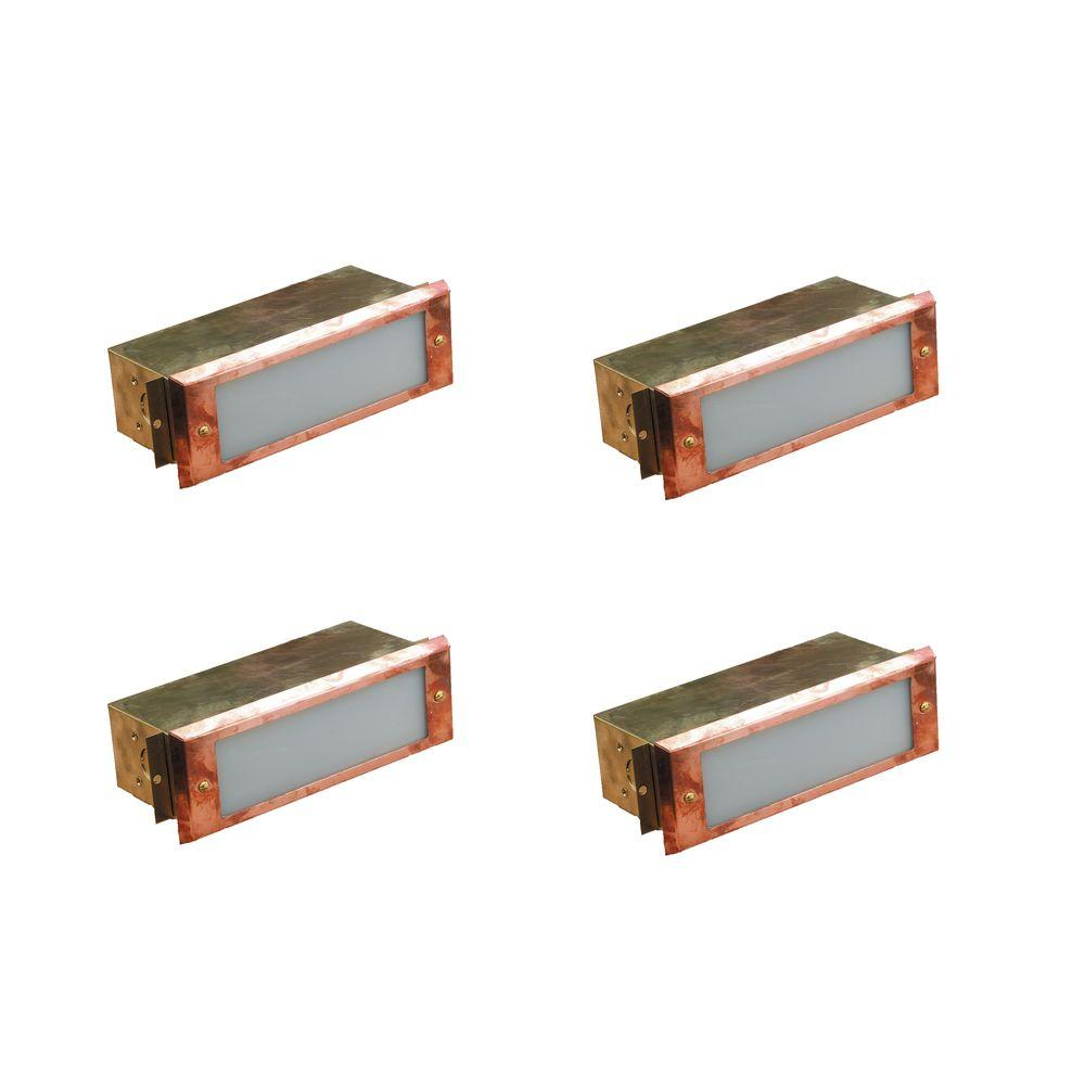 Illumine 1-Light Raw Copper Outdoor Deck Light (4-Pack)