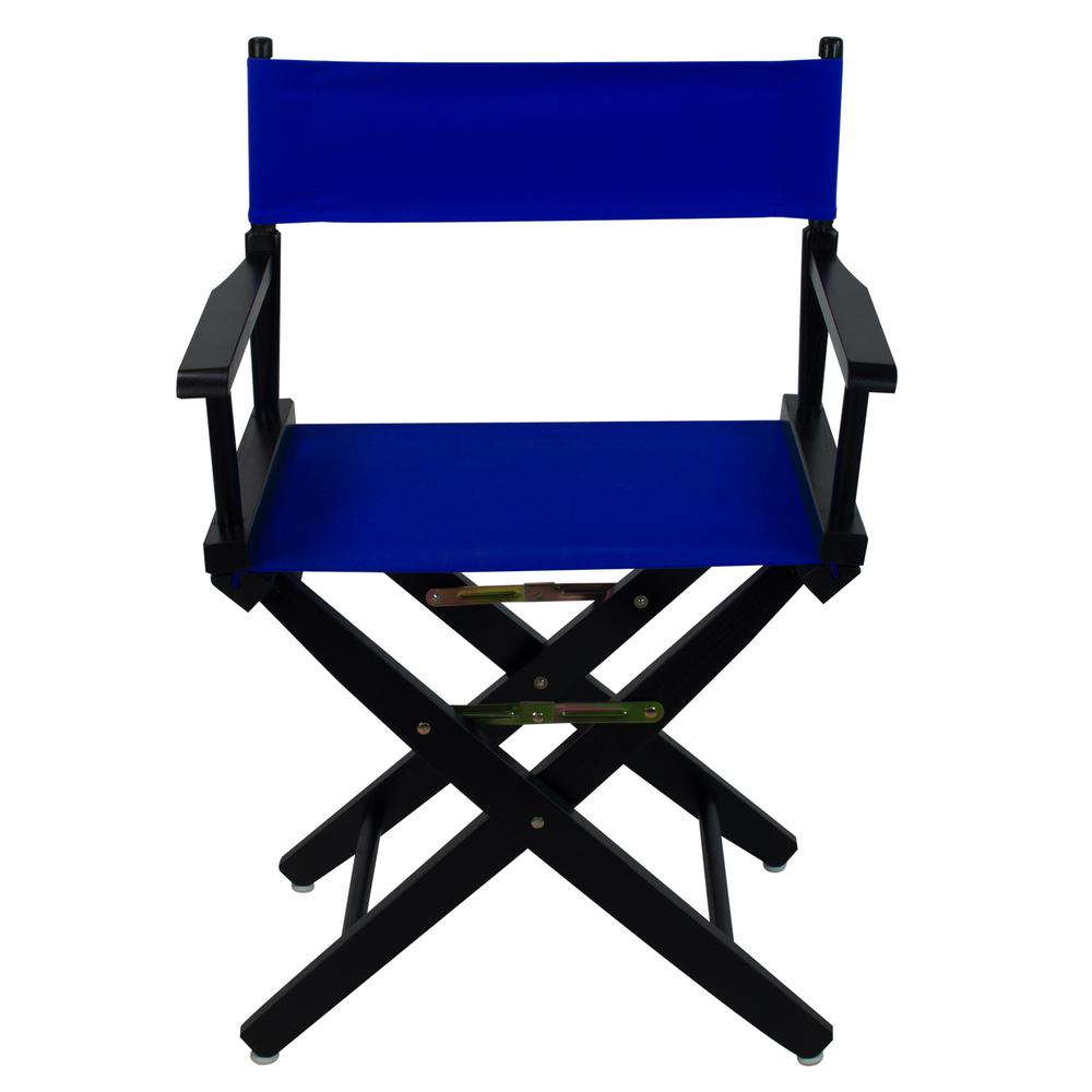 Peachy American Trails 18 In Extra Wide Black Wood Frame Royal Blue Canvas Seat Folding Directors Chair Evergreenethics Interior Chair Design Evergreenethicsorg