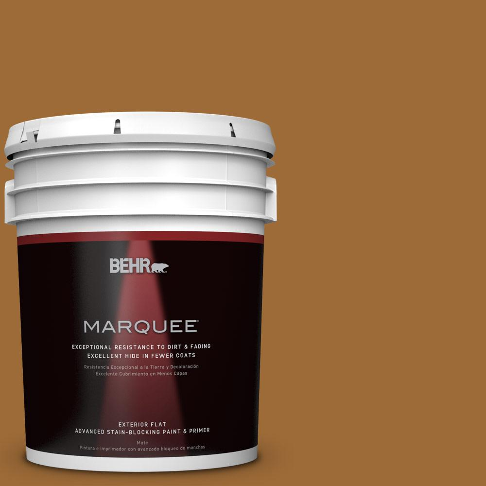 BEHR MARQUEE 5-gal. #PPU6-1 Curry Powder Flat Exterior Paint