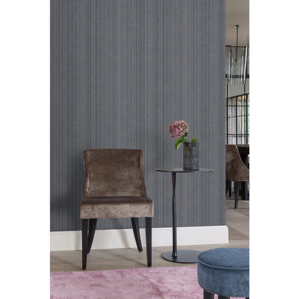 Dark Blue Textile Plain Wallpaper