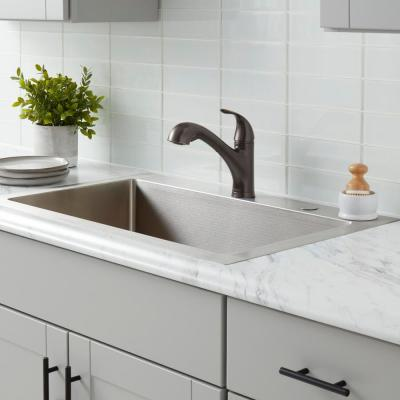 Market Single-Handle Pull-Out Kitchen Faucet with TurboSpray and FastMount in Bronze