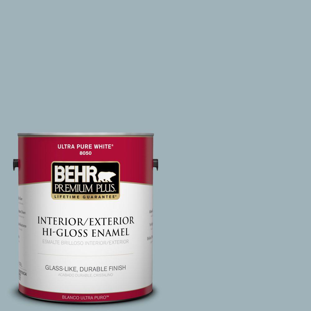 1-gal. #540E-3 Blue Fox Hi-Gloss Enamel Interior/Exterior Paint