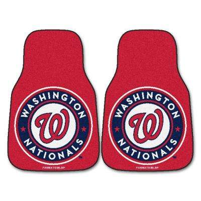 Washington Nationals 18 in. x 27 in. 2-Piece Carpeted Car Mat Set