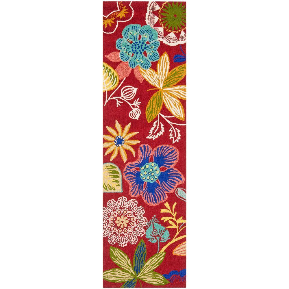 Safavieh Four Seasons Red/Multi 2 ft. 3 in. x 8 ft. Runner