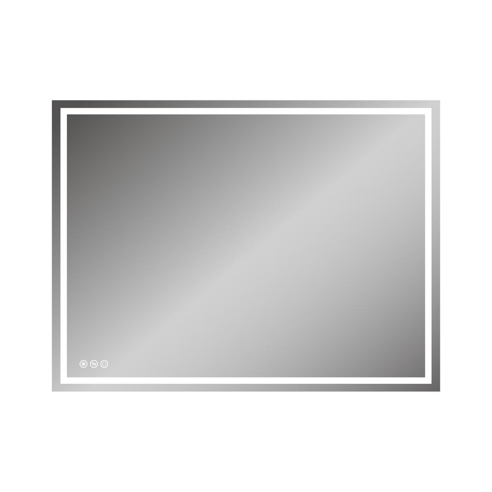 48 in. x 36 in. LED Lighted Single Frameless Bathroom Mirror