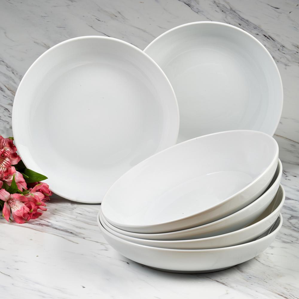 Bianca White Dinner Bowls (Set of 6)