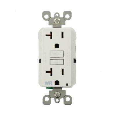 20 Amp SmartlockPro Weather Resistant GFCI Outlet, 20-Pack, White