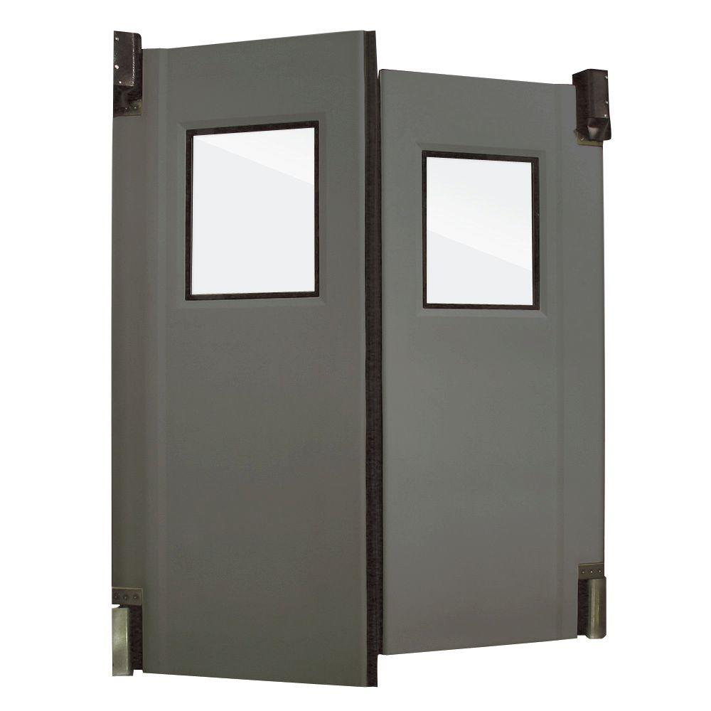 Aleco ImpacDor HD-175 1-3/4 in. x 96 in. x 96 in. Charcoal Gray Impact Door
