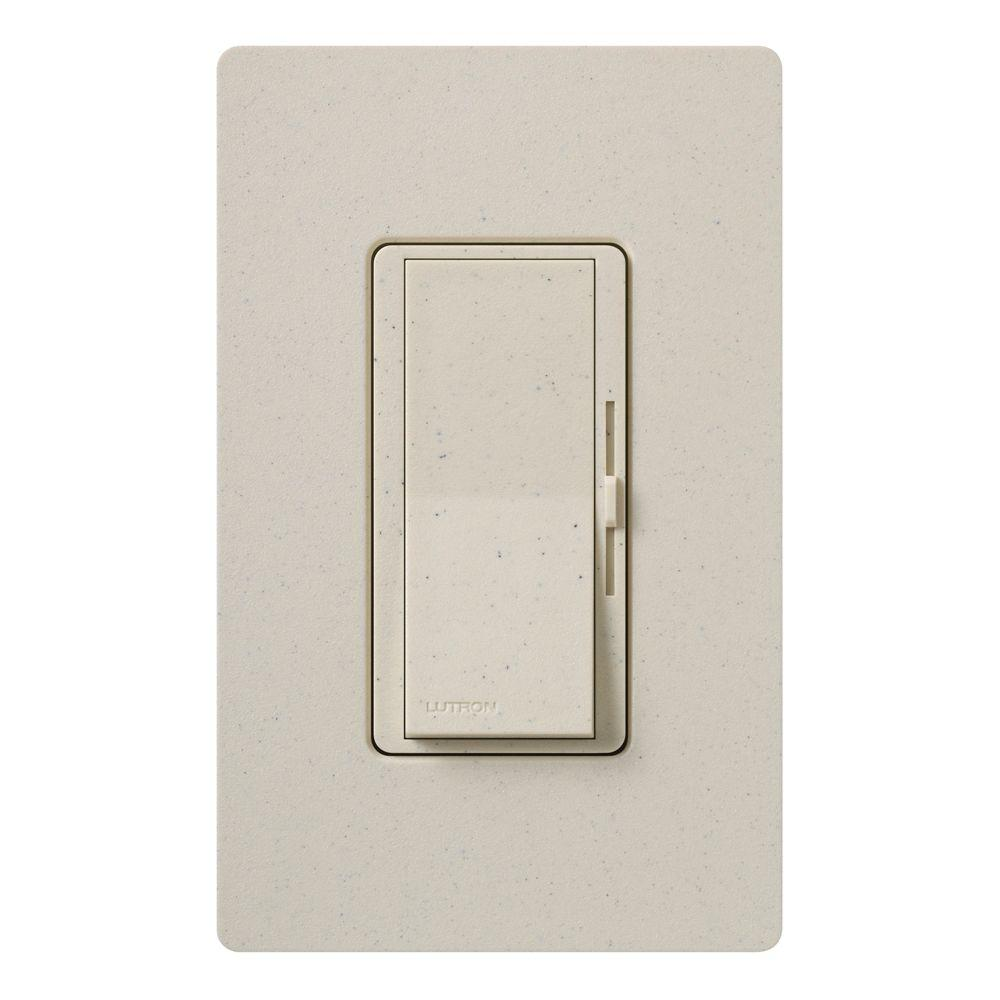 Diva Magnetic Low Voltage Dimmer, 450-Watt, Single-Pole or 3-Way, Limestone