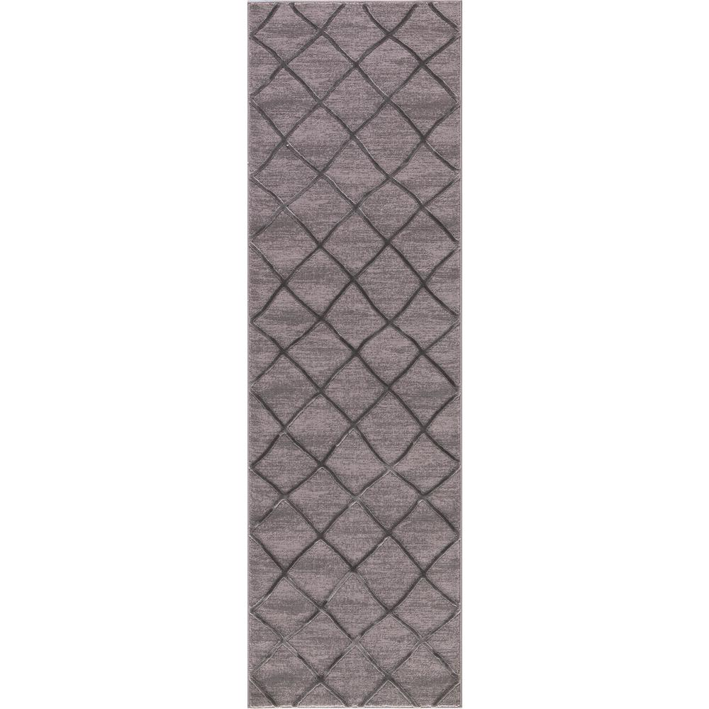 Thema Teo Gray 2 ft. 3 in. x 7 ft. 3 in. Runner