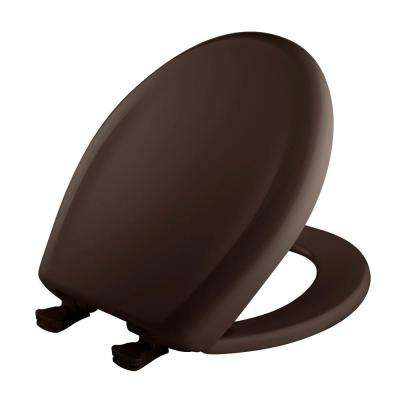 Round Closed Front Toilet Seat in Espresso Brown