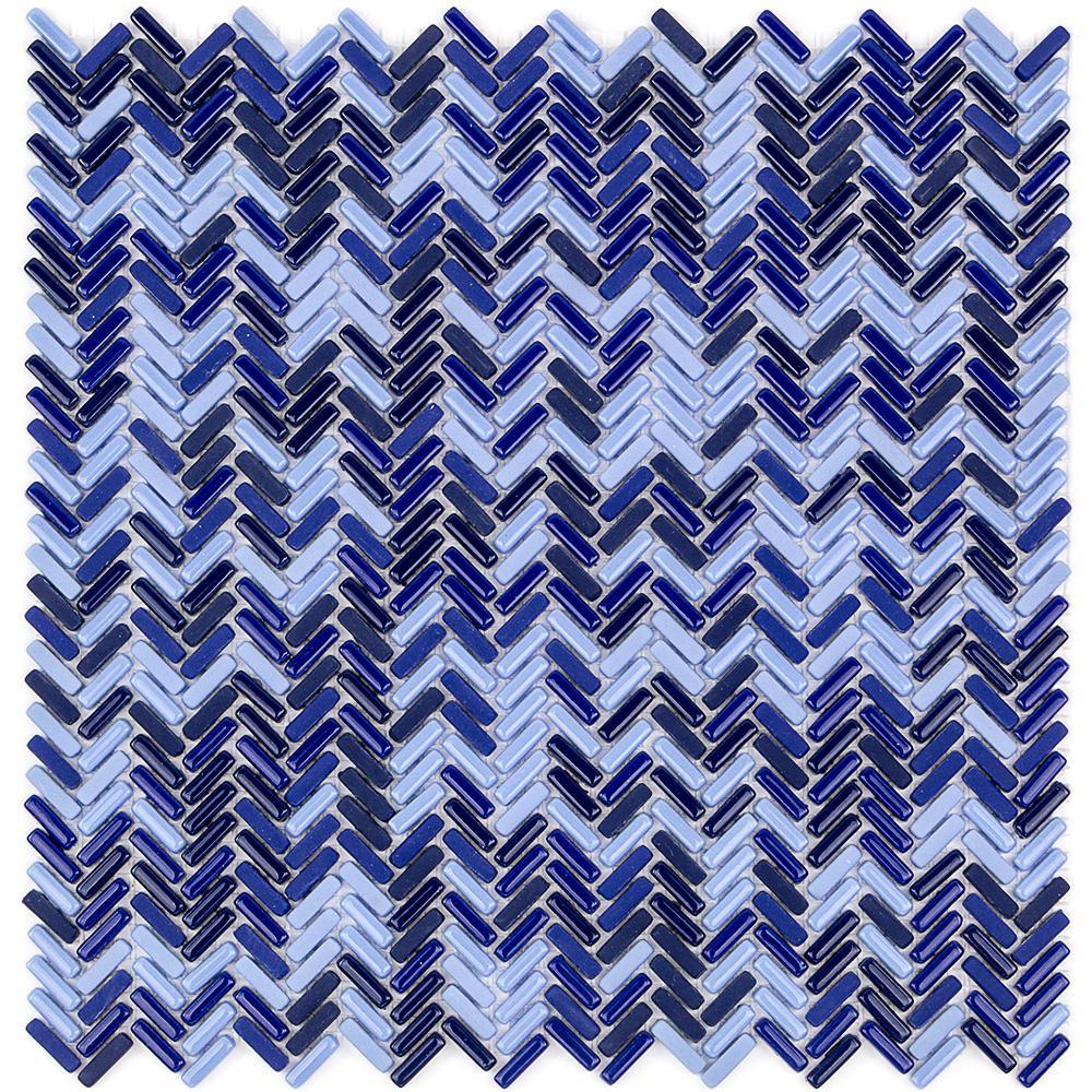 Splashback tile recoup herringbone royale 12 in x 12 in for What size ceiling fan for 12x12 room
