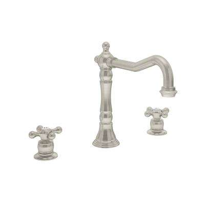 Carrington 2-Handle Standard Kitchen Faucet in Satin Nickel