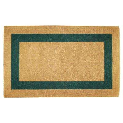 Single Picture Frame Green 22 in. x 36 in. Coir Door Mat