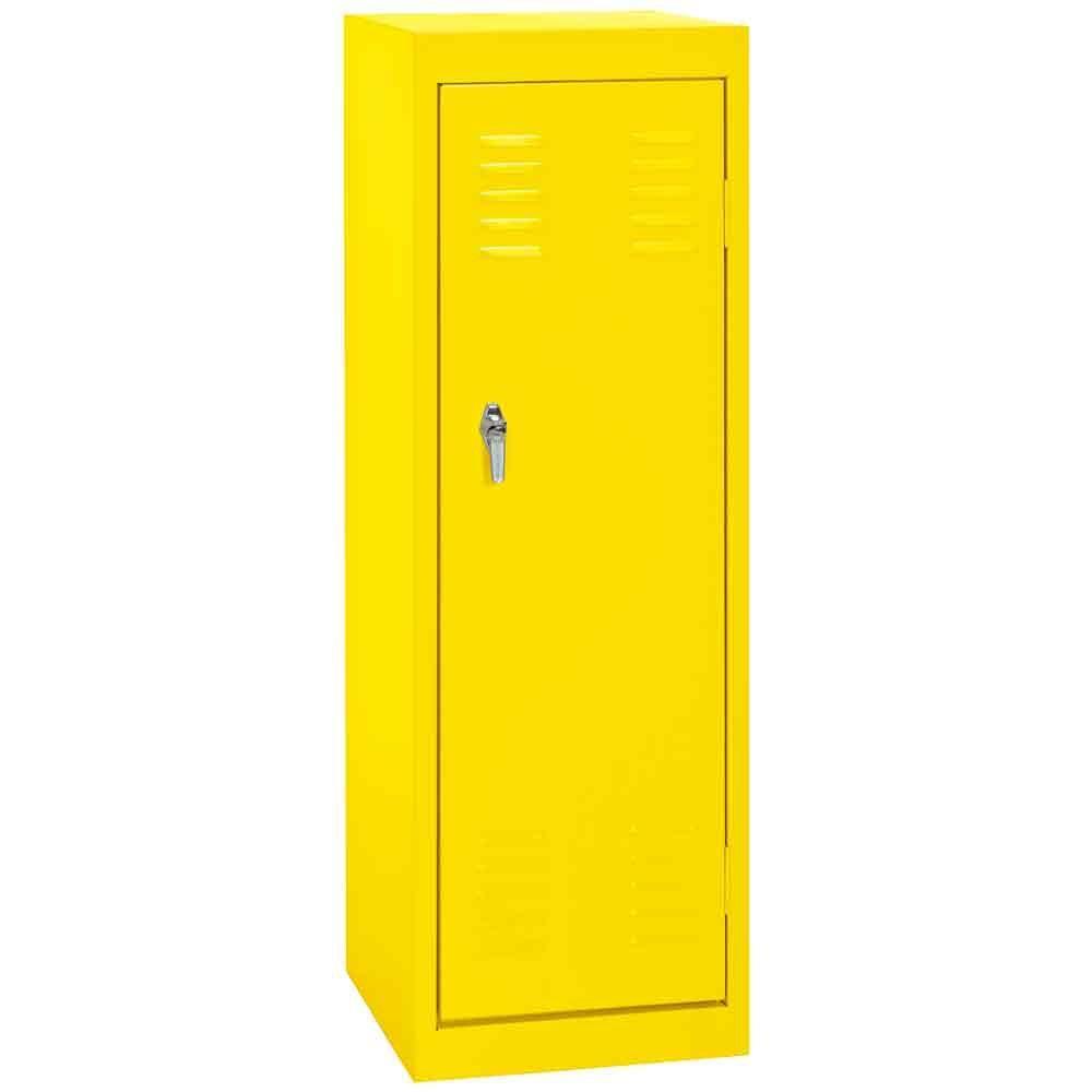 Sandusky 15 in. W x 15 in. D x 48 in. H Single Tier Welded Steel Locker in Sunshine