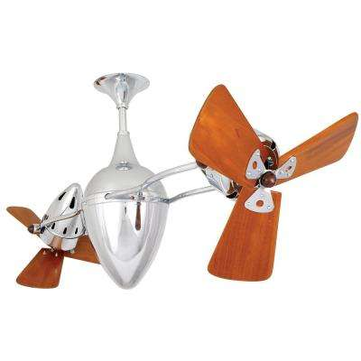 Ar Ruthiane 48 in. Indoor Polished Chrome Ceiling Fan with Wall Control