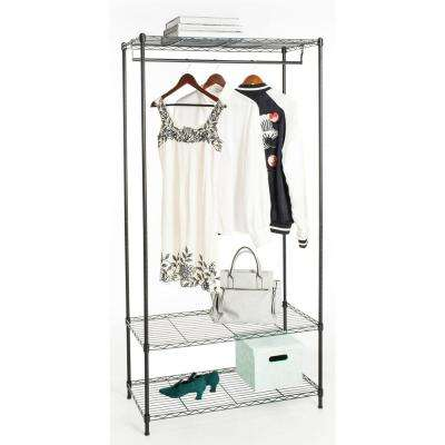 Beatrice 70.8 in. x 35.4 in. Black Garment Rack