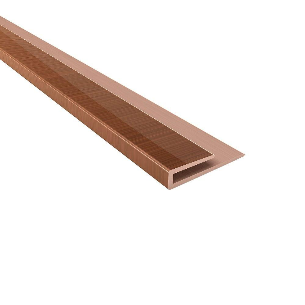 Fasade 4 ft. Polished Copper Large Profile J-Trim