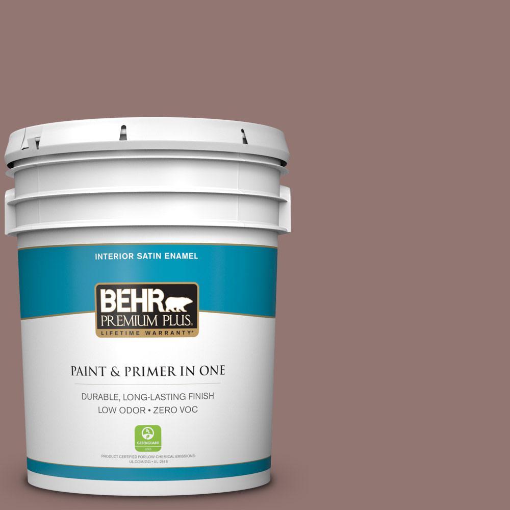 5 gal. #710B-5 Milk Chocolate Satin Enamel Zero VOC Interior Paint