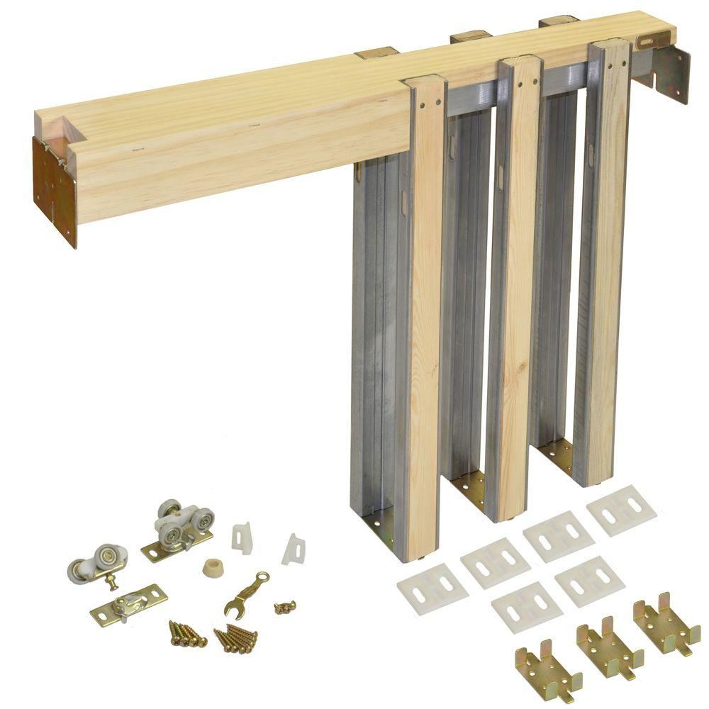 Johnson Hardware 1500 Series 42 in. x 80 in. Pocket Door Frame for ...