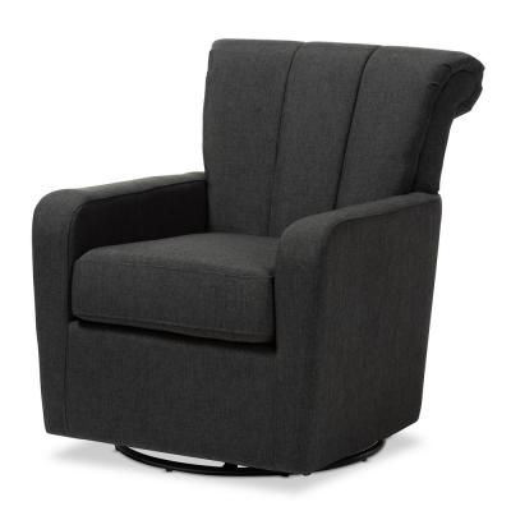 Rayner Gray Fabric Swivel Chair