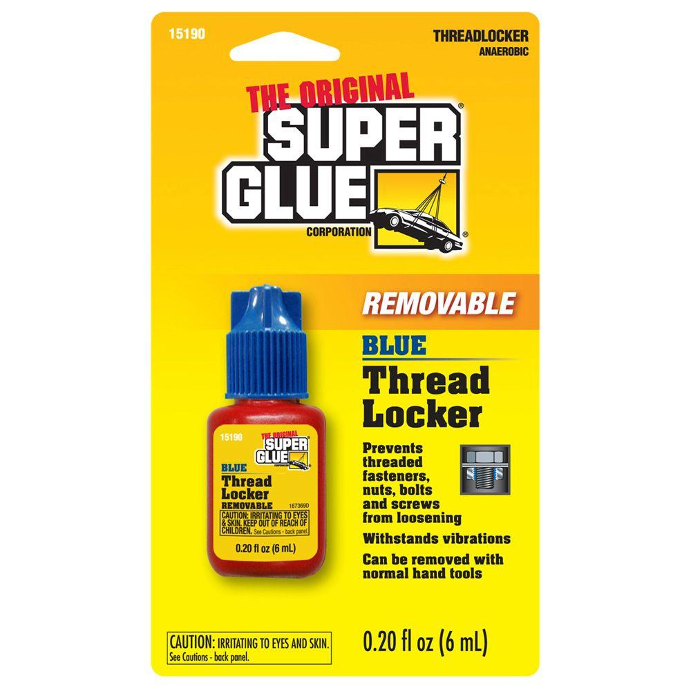 Super Glue 6 ml Blue Removable Thread Locker (12-Pack)