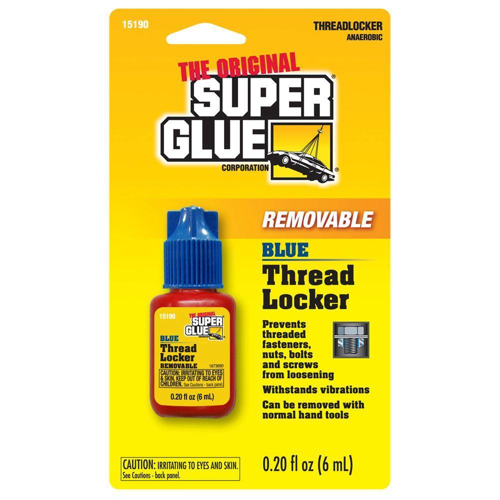 Super Glue 6 ml Blue Removable Thread Locker (12-Pack) by Super Glue
