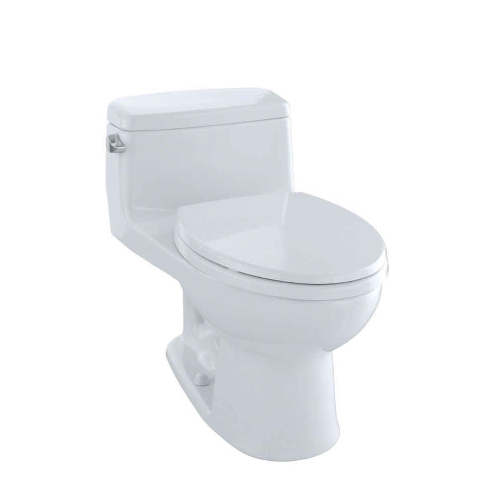 TOTO Eco Supreme 1-Piece 1.28 GPF Single Flush Elongated Toilet in ...