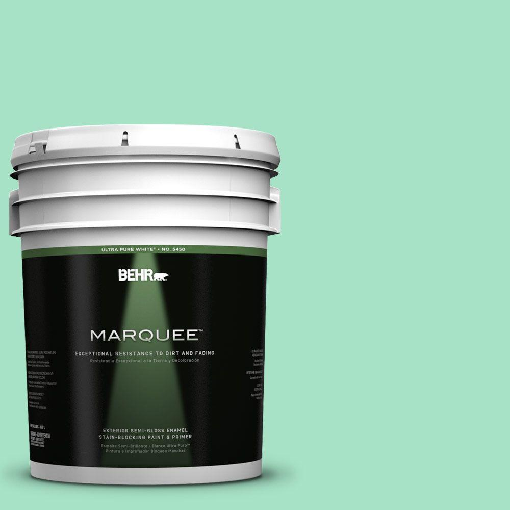 BEHR MARQUEE 5-gal. #470A-3 Reef Green Semi-Gloss Enamel Exterior Paint