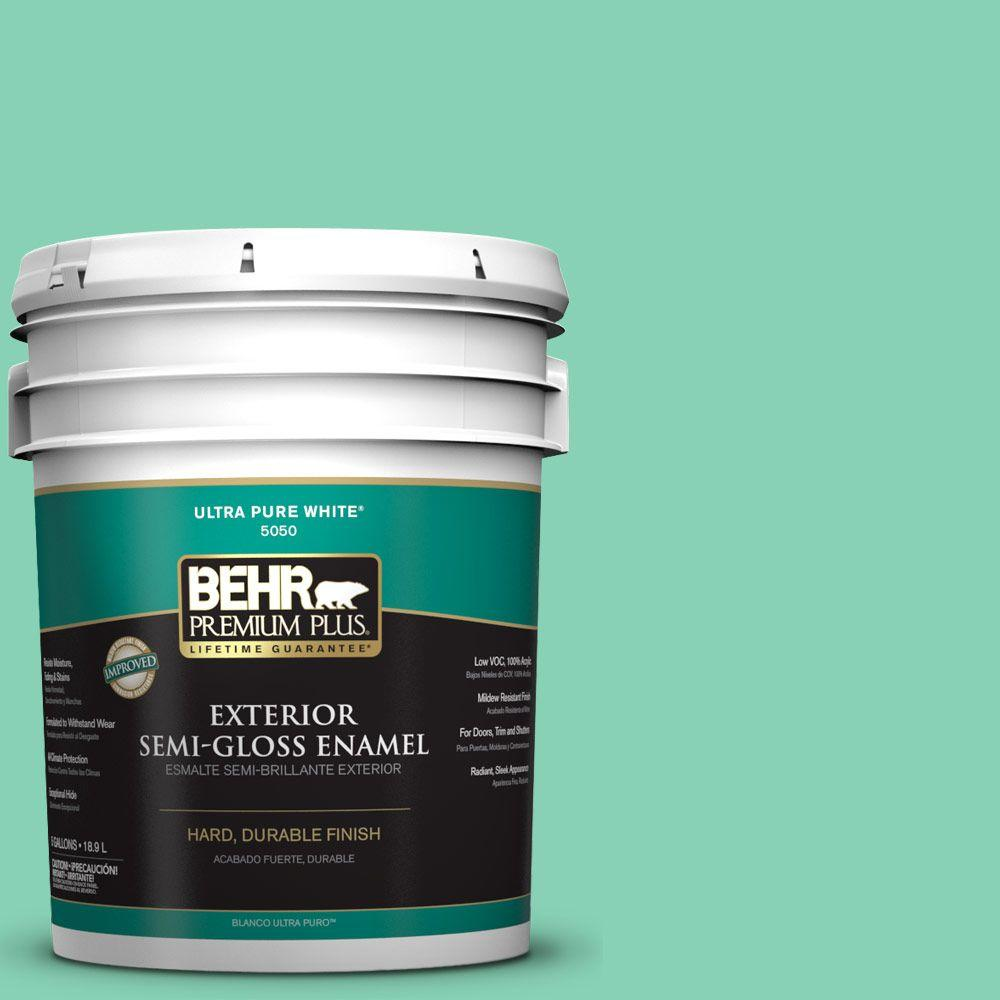 5-gal. #P420-3 Tropical Trail Semi-Gloss Enamel Exterior Paint
