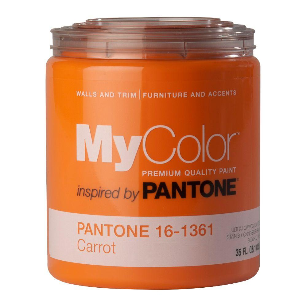 MyColor inspired by PANTONE 16-1361 Eggshell 35-oz. Carrot Self Priming Paint-DISCONTINUED